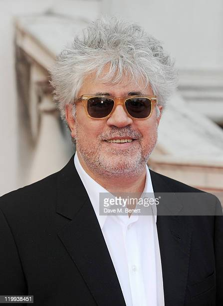 Director Pedro Almodovar arrives at the UK Premiere of 'The Skin I Live In' opening the Film4 Summer Screen with American Express at Somerset House...