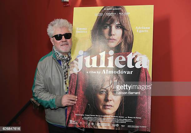 Director Pedro Almodovar attends a screening of Sony Pictures Classics' 'Julieta' hosted by The Cinema Society Avion and GQ at Landmark Sunshine...