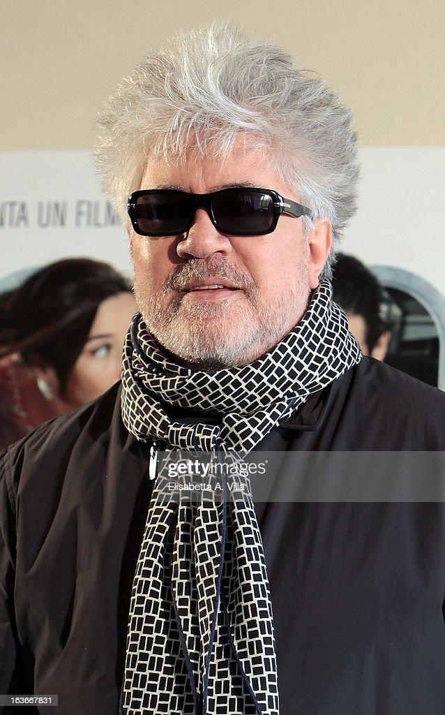 Director Pedro Almodovar attends 'Los Amantes Pasajeros' (Gli Amanti Passeggeri) photocall at Residence Ripetta on March 14, 2013 in Rome, Italy.