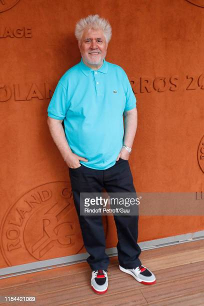 Director Pedro Almodovar attends the 2019 French Tennis Open - Day Thirteen at Roland Garros on June 07, 2019 in Paris, France.