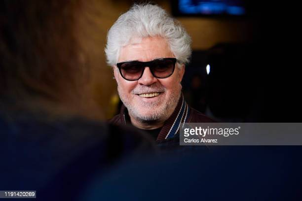 Director Pedro Almodovar attends the 34rd edition Goya Candidates Lecture at Academia de Cine on December 02, 2019 in Madrid, Spain.