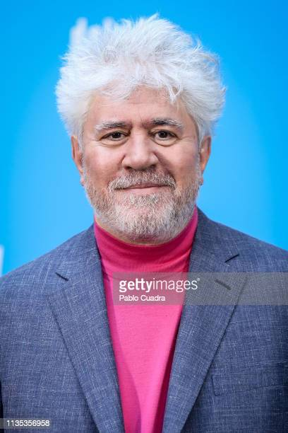 Director Pedro Almodovar attends the 'Dolor y Gloria' photocall at Villamagna Hotel on March 12, 2019 in Madrid, Spain.