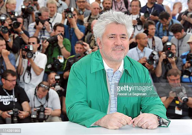 Director Pedro Almodovar attends The Skin I Live In Photocall at Palais des Festivals during the 64th Cannes Film Festival on May 19 2011 in Cannes...