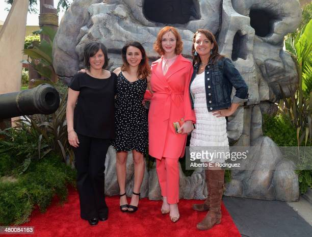 """Director Peggy Holmes, voice actors Mae Whitman and Christina Hendricks and producer Jenni Magee Cook attend Disney's """"The Pirate Fairy"""" World..."""