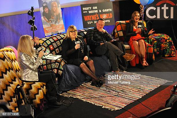 Director Penelope Spheeris and actors Colleen Camp Robert Patrick and Tia Carrere speak at the 'Wayne's World' 25th Anniversary Panel Discussion at...
