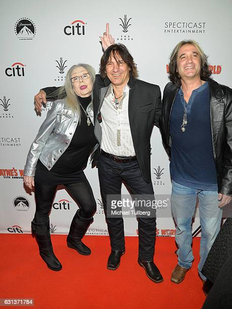 Director Penelope Spheeris and actors George Foster and Marc Ferrari attend the 'Wayne's World' 25th Anniversary Panel Discussion at Pacific Theaters...