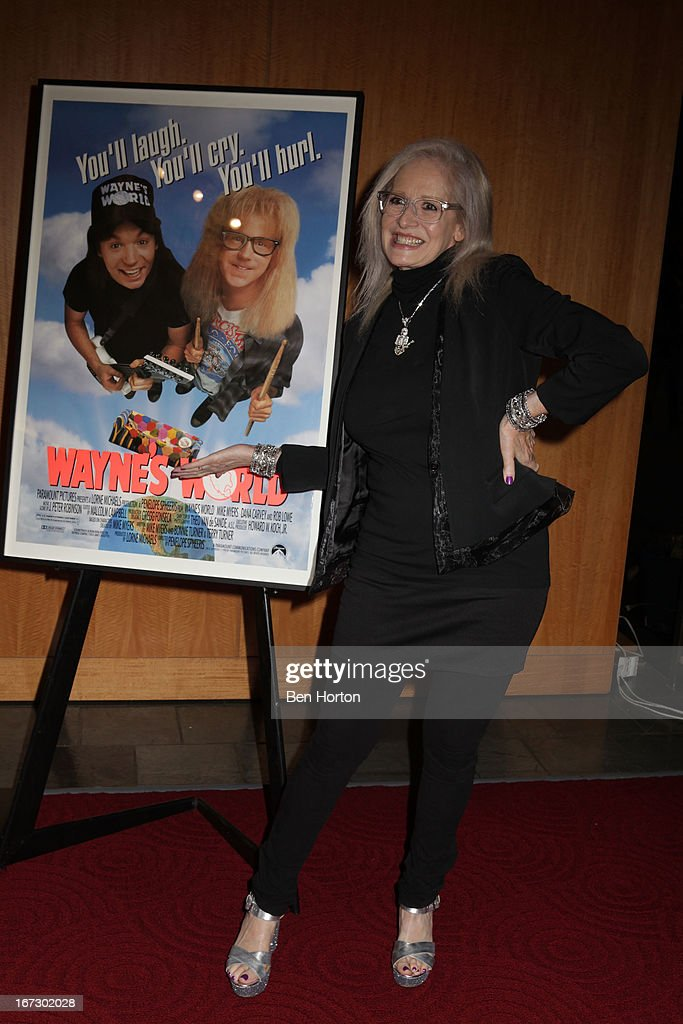Director Penelope Spheeris attends the Academy Of Motion Picture Arts And Sciences Hosts A 'Wayne's World' Reunion at AMPAS Samuel Goldwyn Theater on April 23, 2013 in Beverly Hills, California.