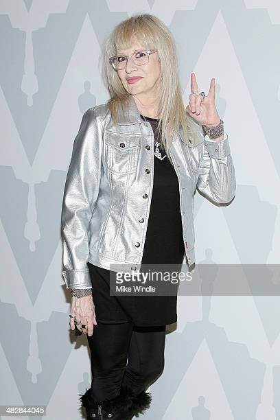 Director Penelope Spheeris attends The Academy Of Motion Picture Arts and Sciences' screening of The Decline Of Western Civilization Part II The...