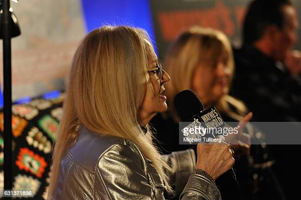 Director Penelope Spheeris speaks at the 'Wayne's World' 25th Anniversary Panel Discussion at Pacific Theaters at the Grove on January 9 2017 in Los...
