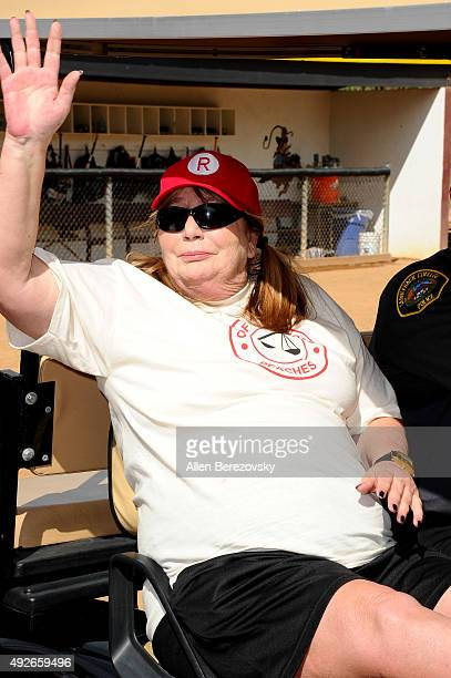 Director Penny Marshal attends 'A League Of Their Own' Reunion Softball Game hosted by espnW presented by The Bentonville Film Festival on October 14...