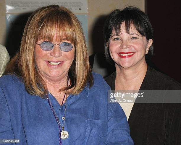 Director Penny Marshall and actress Cindy Williams participate in The Hollywood Show held at Burbank Airport Marriott on April 21 2012 in Burbank...