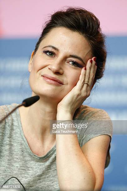 Director Pernille Fischer Christensen attends the 'Someone You Love' press conference during 64th Berlinale International Film Festival at Grand...