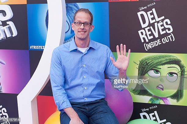 US director Pete Docter a pose for photographers during the photocall of the animated film 'Inside Out' in Madrid Spain 15 July 2015