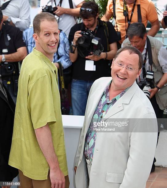 Director Pete Docter and executive producer John Lasseter attend the 'Up' Photocall at the Palais des Festivals during the 62nd International Cannes...