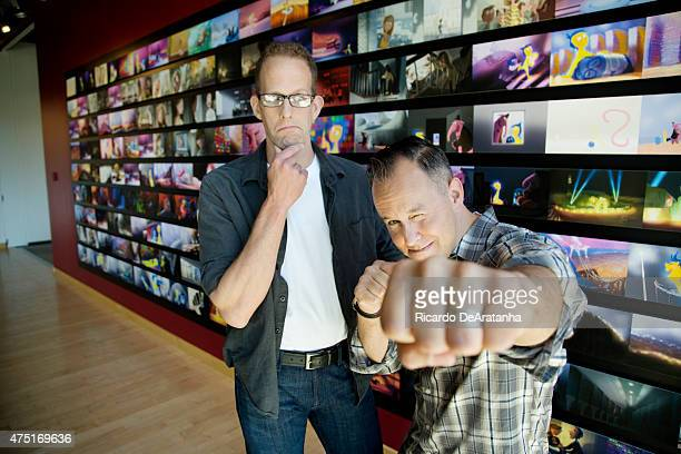 Director Pete Docter and producer Jonas Rivera are photographed for Los Angeles Times on May 1 2015 in Emeryville California PUBLISHED IMAGE CREDIT...
