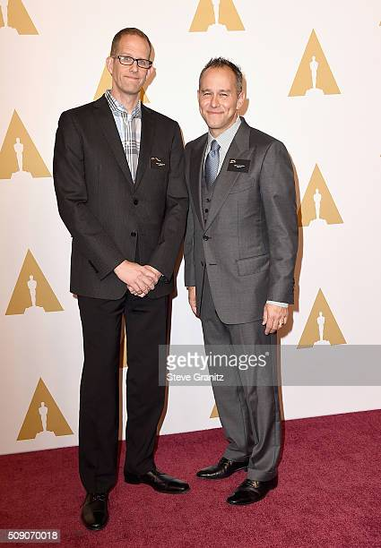 Director Pete Docter and producer Jonas Rivera attend the 88th Annual Academy Awards nominee luncheon on February 8 2016 in Beverly Hills California