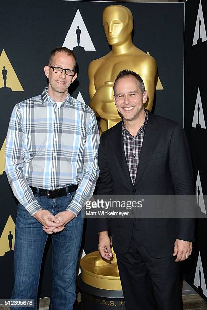 Director Pete Docter and producer Jonas Rivera attend the 88th annual Academy Awards Oscar Week celebrates Animated Features at the Academy of Motion...