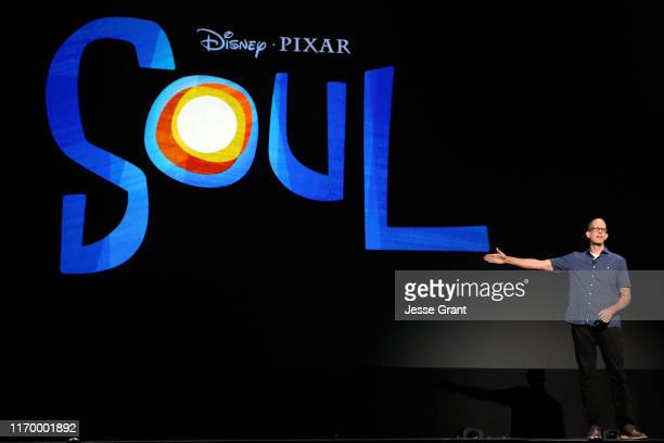 Director Pete Docter of 'Soul' took part today in the Walt Disney Studios presentation at Disney's D23 EXPO 2019 in Anaheim Calif 'Soul' will be...