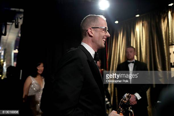 Director Pete Docter winner of the Best Animated Feature Film award for 'Inside Out' attends the 88th Annual Academy Awards at Dolby Theatre on...