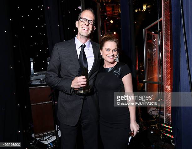 Director Pete Docter winner of the Hollywood Animation Award for 'Inside Out' and actress Amy Poehler attend the 19th Annual Hollywood Film Awards at...