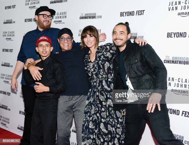 Director Peter Atencio actors Moises Arias JeanClaude Van Damme Kat Foster and creator Dave Callaham attend the Beyond Fest screening of Amazon Prime...