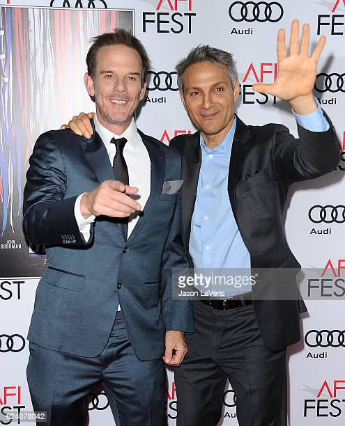 Director Peter Berg and Ari Emanuel attend the closing night gala screening of Patriots Day at the 2016 AFI Fest at TCL Chinese Theatre on November...