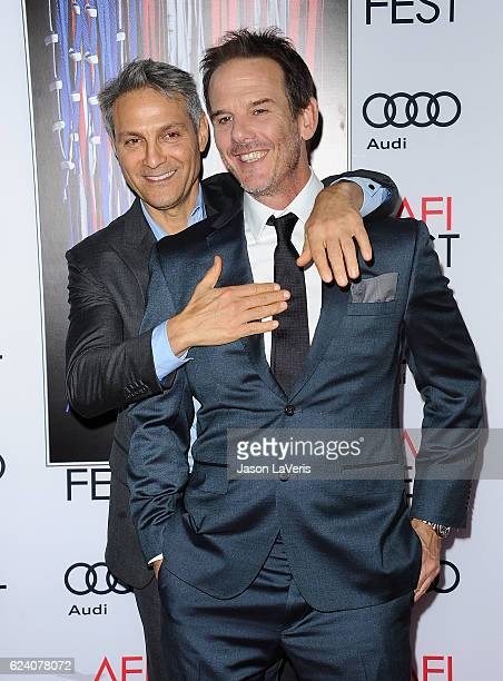 Director Peter Berg and Ari Emanuel attend the closing night gala screening of 'Patriots Day' at the 2016 AFI Fest at TCL Chinese Theatre on November...