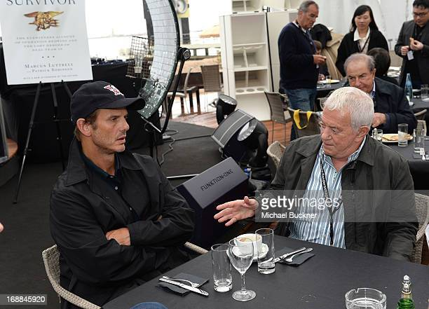 Director Peter Berg and producer Mark Damon attends the Torch Cannes Lone Survivor Breakfast during The 66th Annual Cannes Film Festival at Torch...