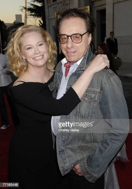 Director Peter Bogdanovich and actress Cybill Shepherd attend the world premiere of Runnin' Down A Dream at the Steven J Ross Theater at Warner Bros...