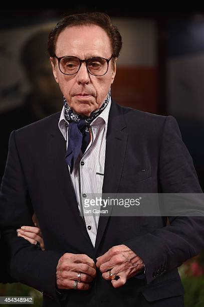 Director Peter Bogdanovich wearing a JaegerLeCoultre watch attends the 'She's Funny That Way' during the 71st Venice Film Festival at the Palazzo del...