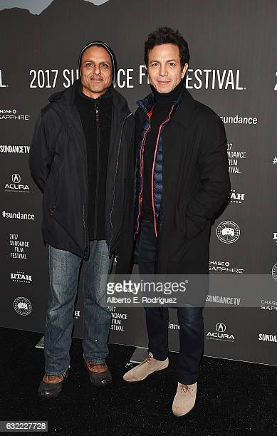 Director Peter Bratt and Actor Benjamin Bratt attend the 'Dolores' premiere during day 2 of the 2017 Sundance Film Festival at Library Center Theater...