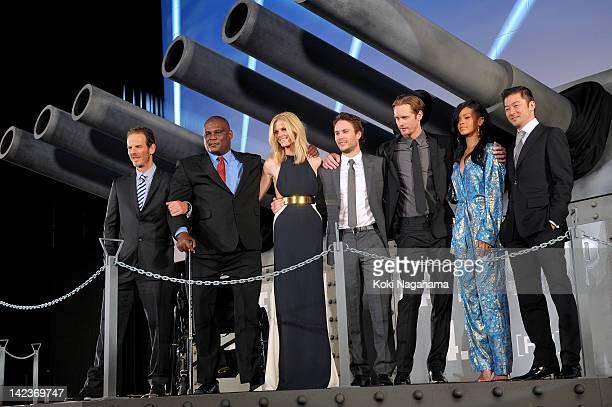 Director Peter Burg Actor Gregory D Gadson Actress Brooklyn Decker Actor Taylor Kitsch Actor Alexander Skarsgard Actress/singer Rihanna and Actor...