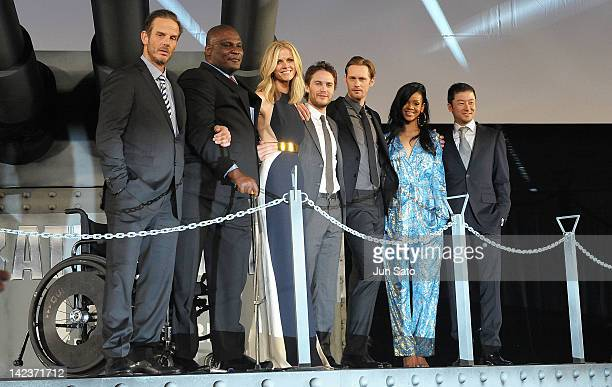 Director Peter Burg actor Gregory D Gadson actress Brooklyn Decker actors Taylor Kitsch Alexander Skarsgard Rihanna and actor Tadanobu Asano attend...