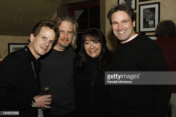 Director Peter Callahan composer Anton Sanko BMI executive Doreen Ringer Ross and composer Adam Gorgoni attend the BMI Dinner during the 2009...