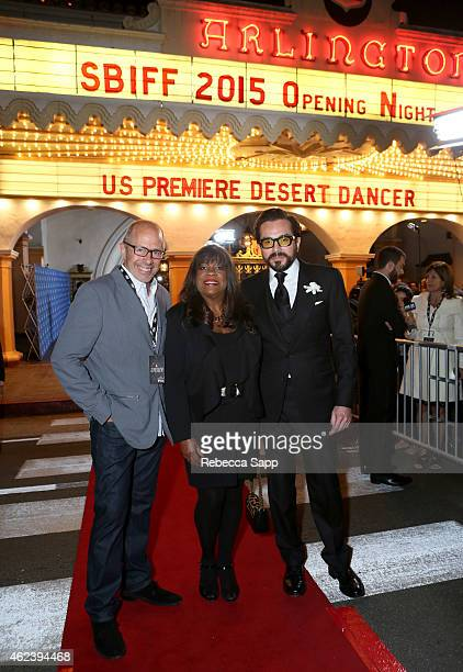 Director Peter Chelsom Chaz Ebert and SBIFF director Roger Durling attends the 30th Santa Barbara International Film Festival Opening Night...