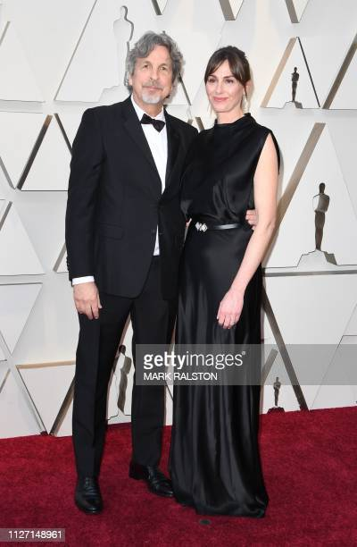US director Peter Farrelly and his wife Melinda Farrelly arrive for the 91st Annual Academy Awards at the Dolby Theatre in Hollywood California on...