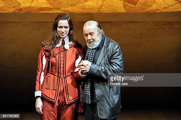 Director Peter Hall and his daughter Rebecca Hall as Viola in William Shakespeare's 'Twelfth Night' at the National Theatre in London