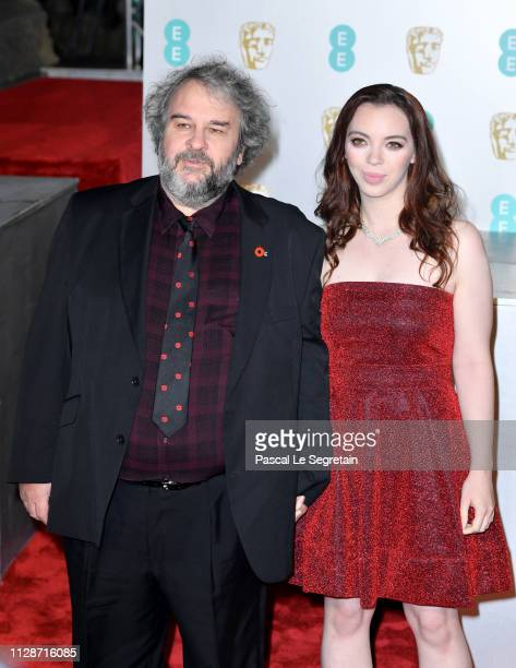 Director Peter Jackson and Katie Jackson attend the EE British Academy Film Awards at Royal Albert Hall on February 10 2019 in London England