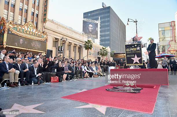 Director Peter Jackson attends a ceremony honoring him with the 2,538th Star on The Hollywood Walk of Fame on December 8, 2014 in Hollywood,...