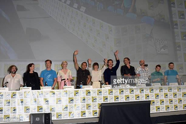 Director Peter Jackson screenwriter Philippa Boyens actors Benedict Cumberbatch Cate Blanchett Orlando Bloom Evangeline Lilly Luke Evans Lee Pace...