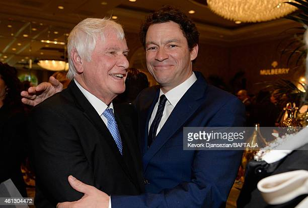 Director Peter Medak and actor Dominic West attend the BAFTA Los Angeles Tea Party at The Four Seasons Hotel Los Angeles At Beverly Hills on January...