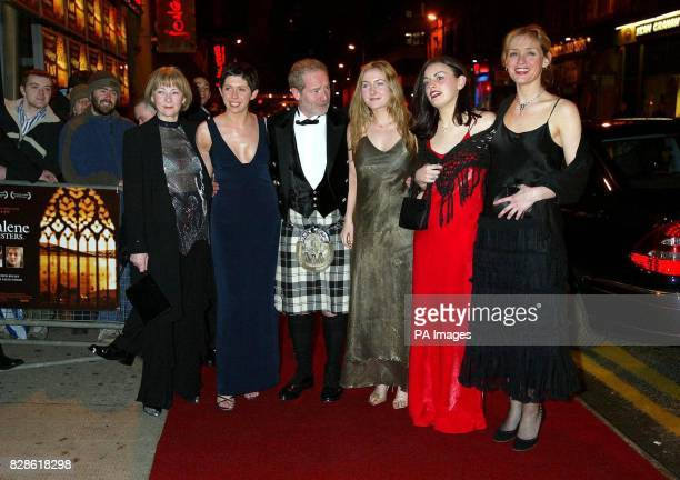 Director Peter Mullan with his leading ladies LR Geraldine McEwan Eileen Walsh Peter Mullan Dorothy Duffy Anne Marie Duff and Nora Jane Noone arrive...