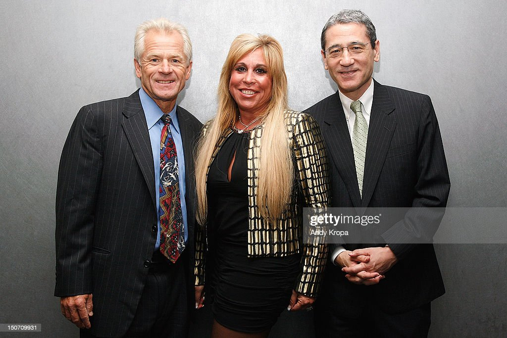 Director Peter Navarro, Lynn Tilton and Gordon Chang attend the 'Death By China' screening at the Quad Cinema on August 24, 2012 in New York City.