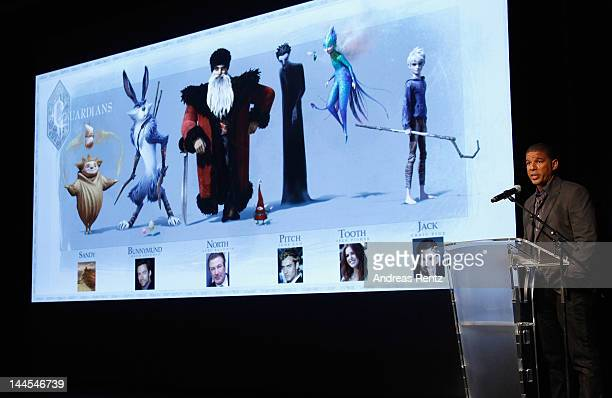 Director Peter Ramsey speaks during Rise of the Guardians QA with Talent and Filmmakers at Palais des Festivals on May 16 2012 in Cannes France