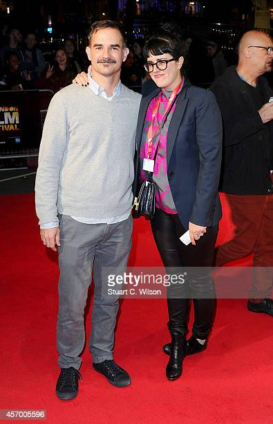 Director Peter Sattler and producer Emmy Ellison attend the red carpet arrivals of Camp XRay during the 58th BFI London Film Festival at Odeon West...