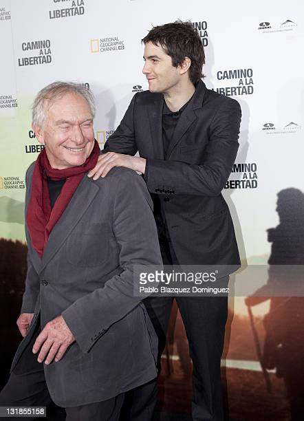 Director Peter Weir and actor Jim Sturgess attend The Way Back premiere at Capitol Cinema on December 9 2010 in Madrid Spain