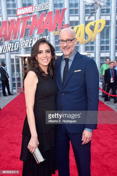 Director Peyton Reed and guest attend the Los Angeles Global Premiere for Marvel Studios' AntMan And The Wasp at the El Capitan Theatre on June 25...