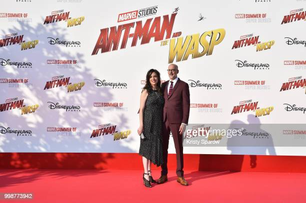 Director Peyton Reed and his wife attend the European Premiere of Marvel Studios 'AntMan And The Wasp' at Disneyland Paris on July 14 2018 in Paris...