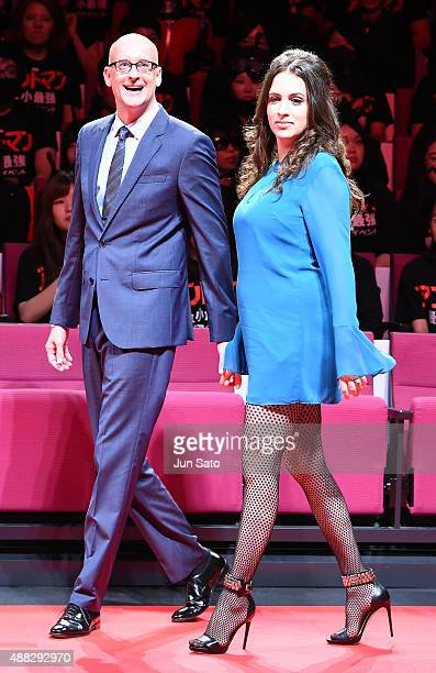 Director Peyton Reed and wife Sheila Reed attend the Japan Premiere of AntMan at EX Theater Roppongi on September 15 2015 in Tokyo Japan