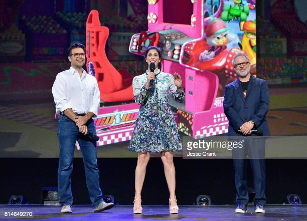 Director Phil Johnston actor Sarah Silverman and director Rich Moore of RALPH BREAKS THE INTERNET WRECKIT RALPH 2 took part today in the Walt Disney...